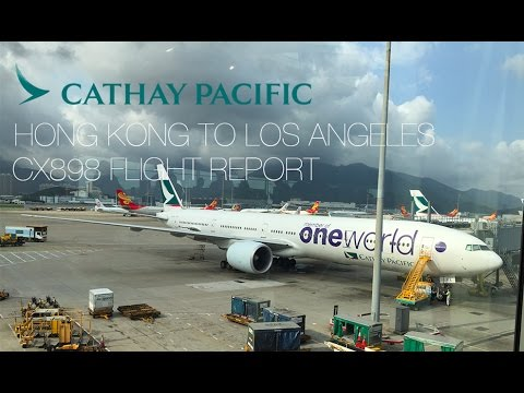Cathay Pacific Flight CX898 From Hong Kong to Los Angeles 國泰航空飛行報告