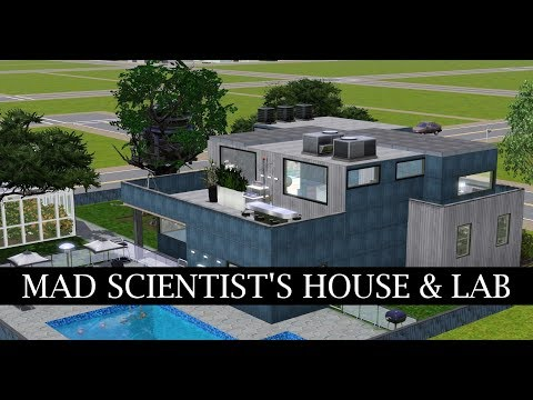 SIMS 3 SPEED BUILD // Mad Scientist's House + Science Lab