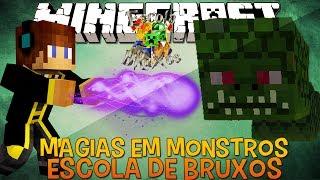Magias Contra Monstros !! #12 Escola de Bruxos Minecraft