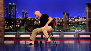 David Letterman Stupid Human Trick Man Traverses a Chair thumbnail