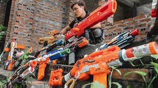 GUGU Nerf War : CID Dragon Nerf Guns Fight SKMAN Mask Wanted Criminals trade Weapons