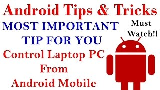 Amazing Android Tips & Tricks Control your Computer With Android (HINDI) Must Watch!!