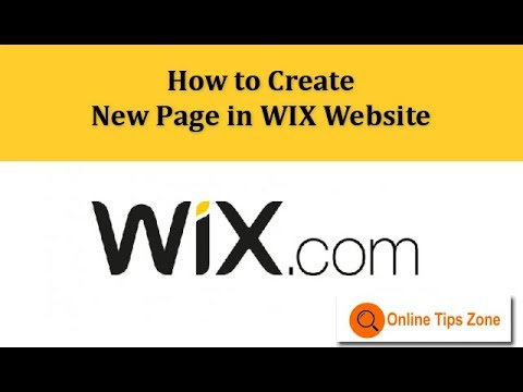 How to add new Page in WIX