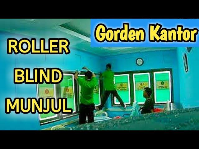 Pasang Gorden Kantor KBIH Di Munjul 082310989451- ROLLER BLIND #gordenkantor #gordenminimalis