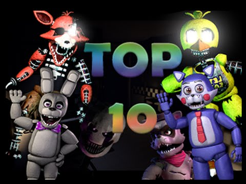 TOP 10 FNAF Fan-game animatronics !!!