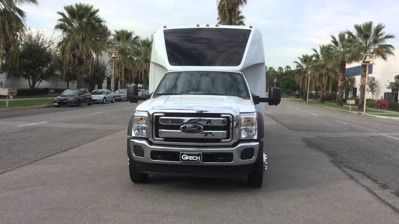White 2016 GM33 F550 Shuttle Bus For Sale