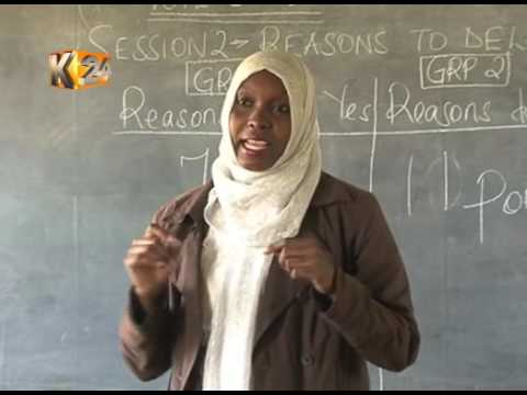 Mentorship classes for the youth in Kibera