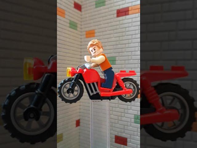 Lego Jurassic World Magazine - Owen on Motorbike #shorts