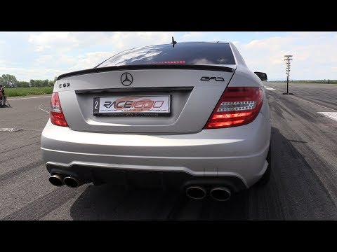1200HP Mercedes-Benz C63 AMG GAD MOTORS - Fast Accelerations & 1/2 Mile Drag!