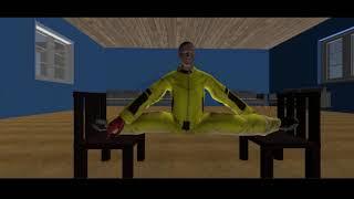 Filme de animação de kung fu A lenda dos tigres Capítulo 1 Macacos malvados invadem a academia