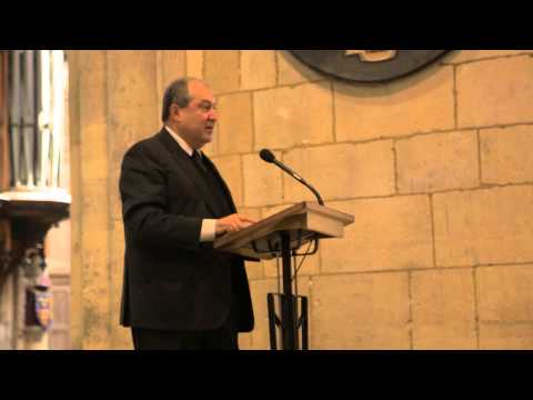 Armen Sarkissian's speech at Southwark Cathedral