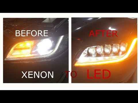 2018-2019 Lincoln Continental Car  Headlight Modification From Xenon To LED