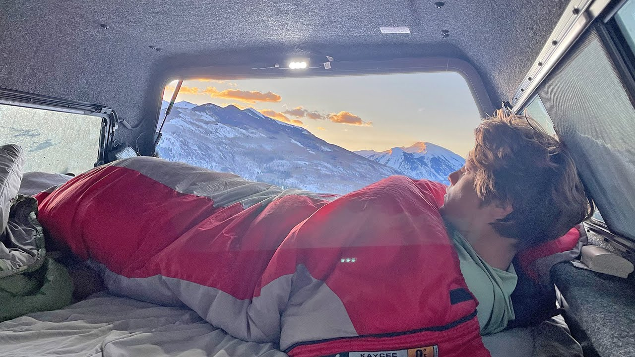 Truck Camping In Tнe Mountains For A Weekend