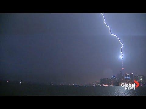 Incredible video of lighting striking CN Tower & Incredible video of lighting striking CN Tower - YouTube azcodes.com