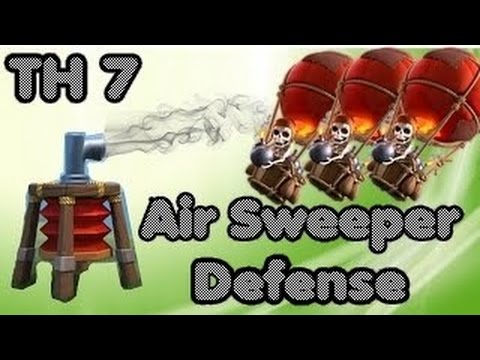 Clash Of Clans Th7 War Base / Town Hall 7 Defence Anti Dragon, Anti Hogs With Air Sweeper 2015