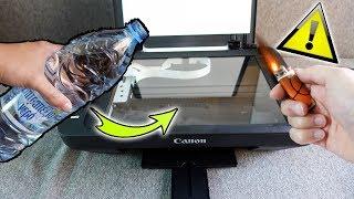 Experiment - WAS PASSIERT, wenn ich WASSER oder EINE FLAMME mit einem Drucker kopiere?