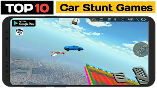 🔥Top 10🔥 Offline Car Stunt Racing Games For Android 2021 | Car Ramp Stunt Games | screenshot 1
