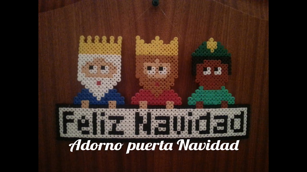 Adorno navidad reyes magos de hama beads perler beads - Detalles de navidad ...