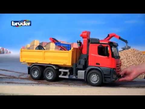 Bentoys.nl - Bruder 03651 - Mercedes Benz vrachtwagen met kraan