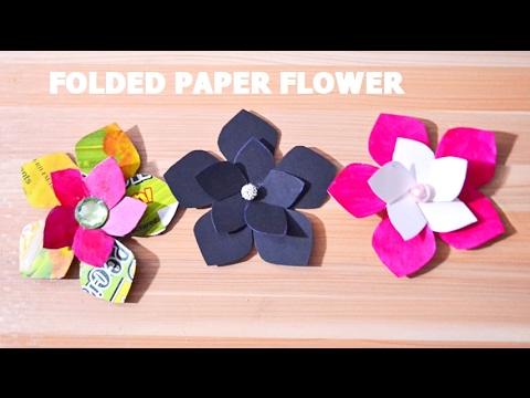 How to make paper folded flower diy folded flower origami folded how to make paper folded flower diy folded flower origami folded flower diy mightylinksfo