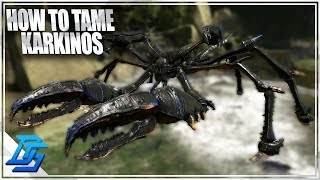 HOW TO TAME KARKINOS, GIANT CRAB TAME - Ark Survival Evolved - Part 10 - Aberration