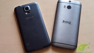 Samsung Galaxy S5 vs HTC One M8 video confronto da TuttoAndroid.net