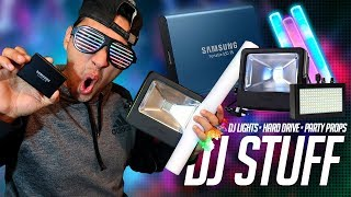 MAIL TIME: The BEST HARD DRIVE for DJs | PARTY PROPs (LED Sticks) | Loftek & Solmore Lights