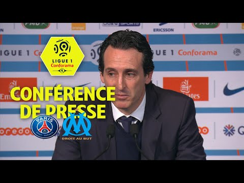 Conférence de presse Paris Saint-Germain - Olympique de Marseille (3-0) / 2017-18
