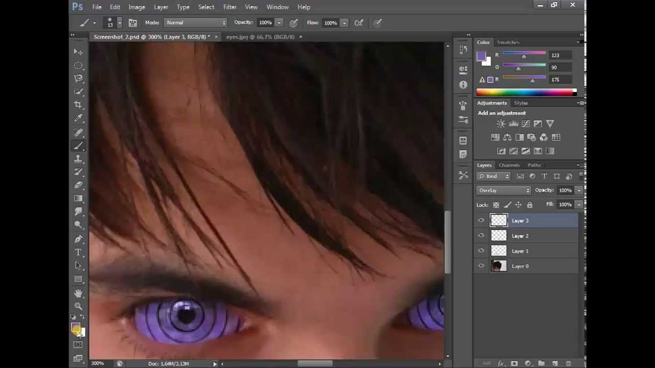 how to make rinnegan eyes with photoshop cs6 real eyes tutorial