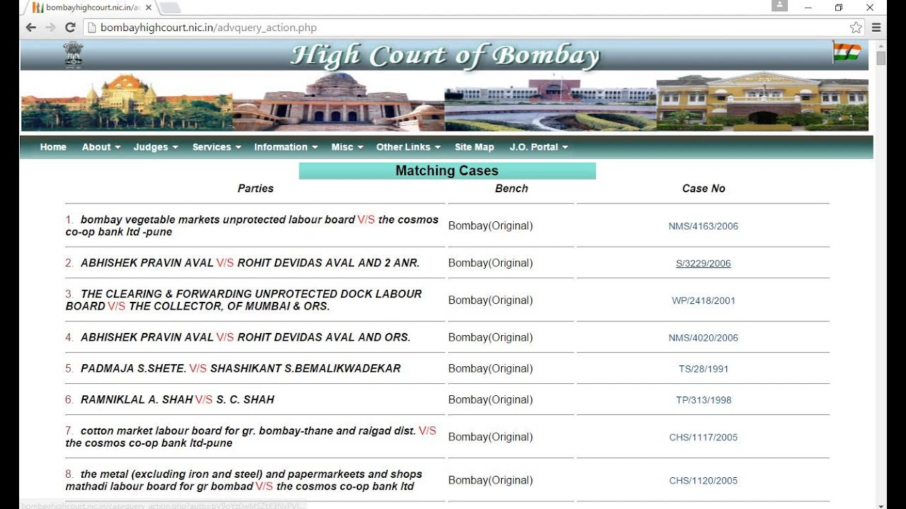 Patna high court case status by party name