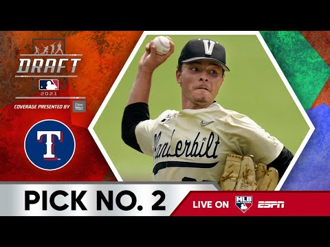The Texas Rangers select Jack Leiter 2nd overall in the 2021 MLB ...