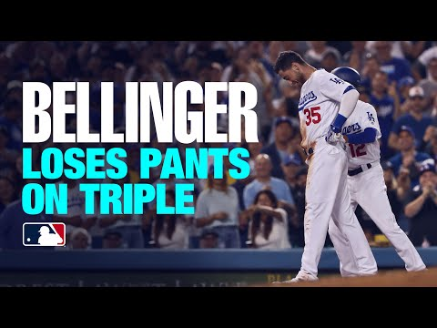 Dodgers' Cody Bellinger clears bases, loses pants!