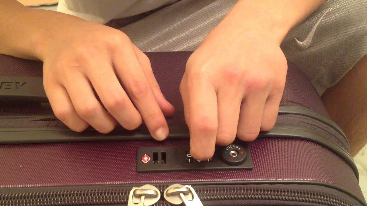 SOLVED: How to unlock echolac luggage - Fixya