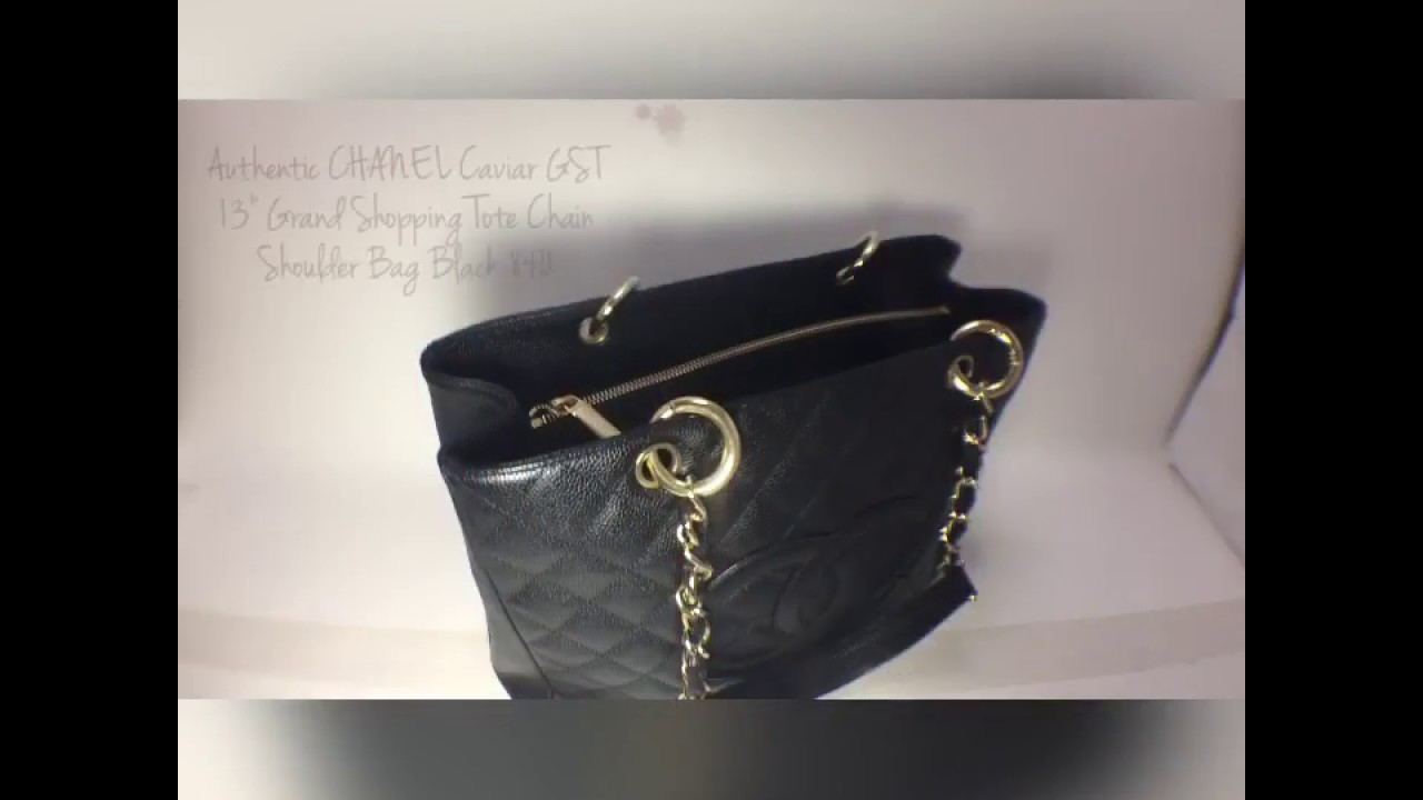 5b2161c02c8442 Authentic CHANEL Caviar GST 13