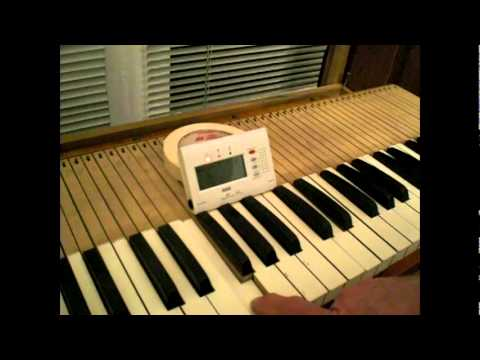 How to Tune an Antique Pump Reed Organ.
