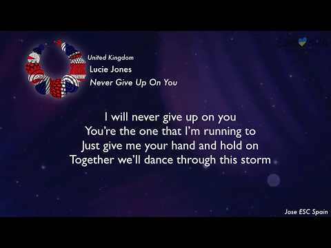 Lucie Jones - Never Give Up On You (United Kingdom) [Karaoke Version]