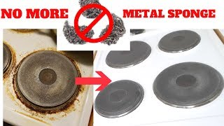 How to remove stubborn stains from Stove without metal sponge | DEMO