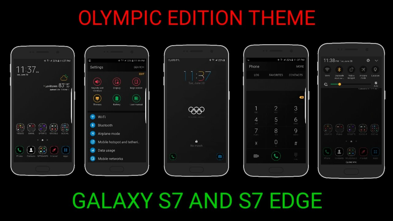 s7 edge olympic edition theme on s7 edge tema del s7