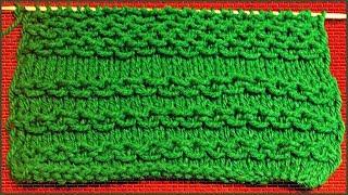 Цепочки спицами. Снятые петли спицами. Узор цепочки. (Chain of loops taken spokes)