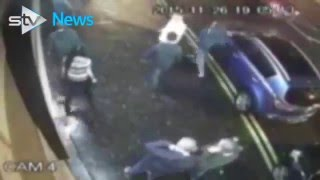 Football Hooligans - Celtic v Ajax - Hoops Bar CCTV