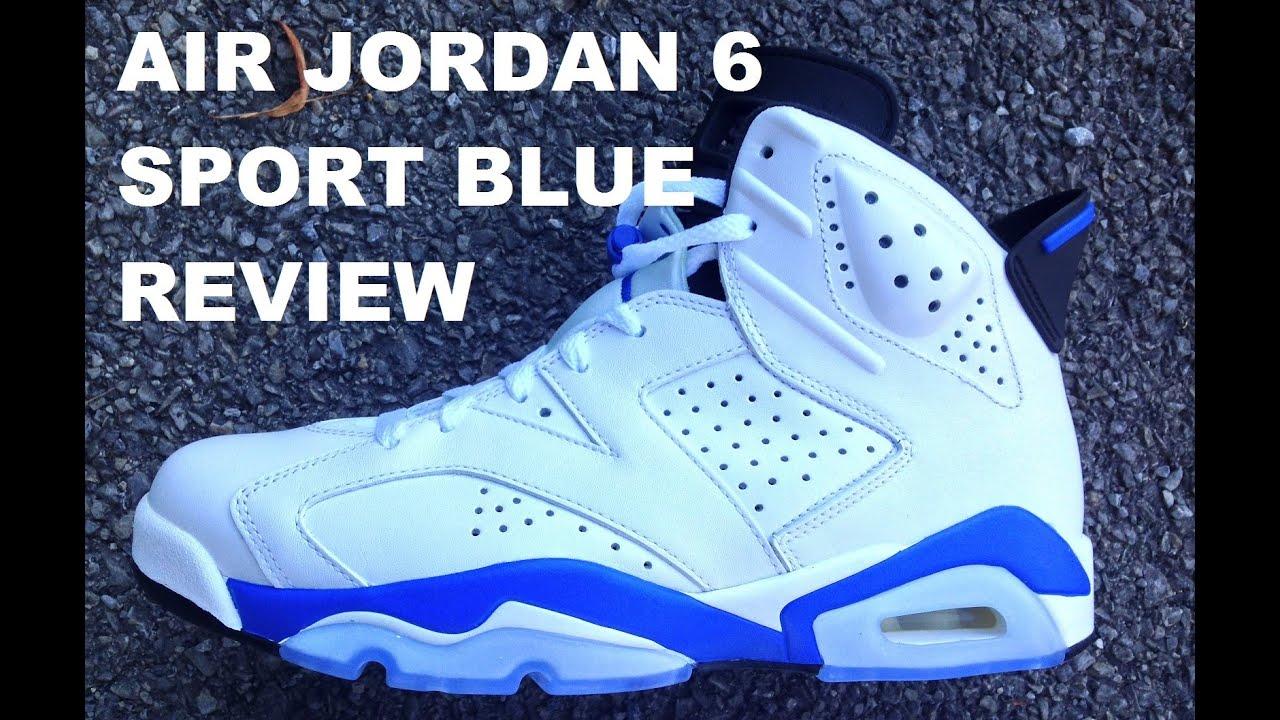 7324b13affe5 Air Jordan 6 Sport Blue Shoe Real Review + On Foot With DJ Delz Sneaker  Addict Show  DjDelz