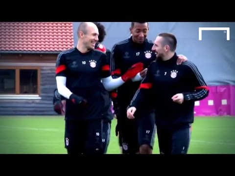It's all fun and games in Bayern training!