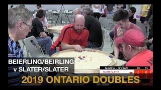 2019 Ontario Doubles Crokinole Championship - Beierling/Beierling v Slater/Slater - Semifinal