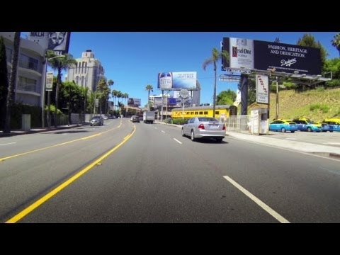 Cruising down Sunset Strip, Los Angeles California