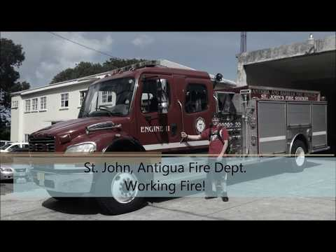 Working Structure Fire in Antigua! St. John Fire Department
