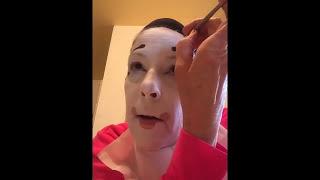Whiteface Clown Makeup Tutorial