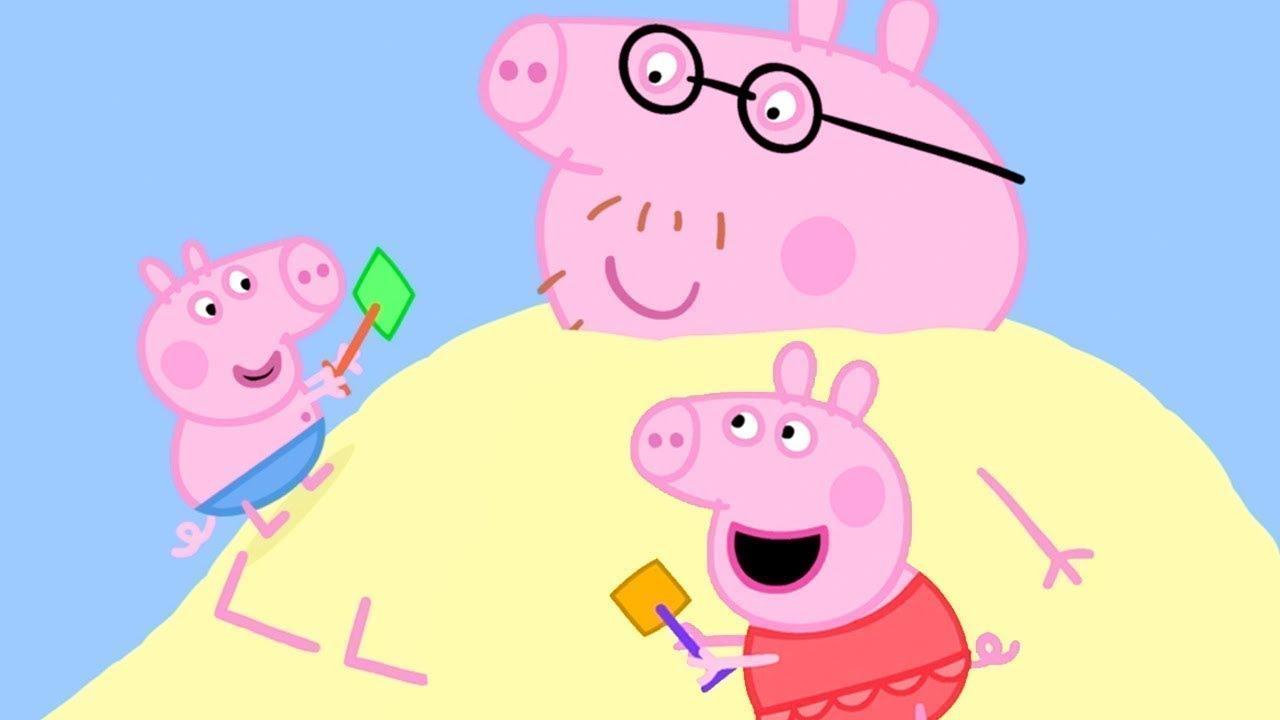 Peppa Pig in Hindi - Peppa Pig Samundar ke Kinare par - हिंदी Kahaniya - Hindi Cartoons for Kids