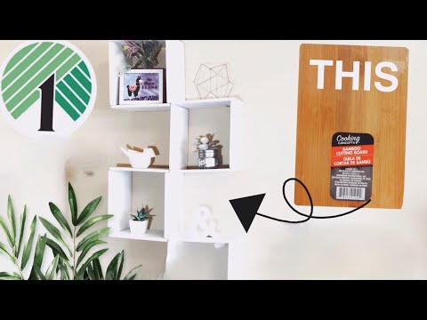 DOLLAR TREE DIY CUBE SHELF