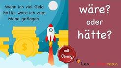 Learn German | Common Mistakes in German | hätte oder wäre | A2 | B1