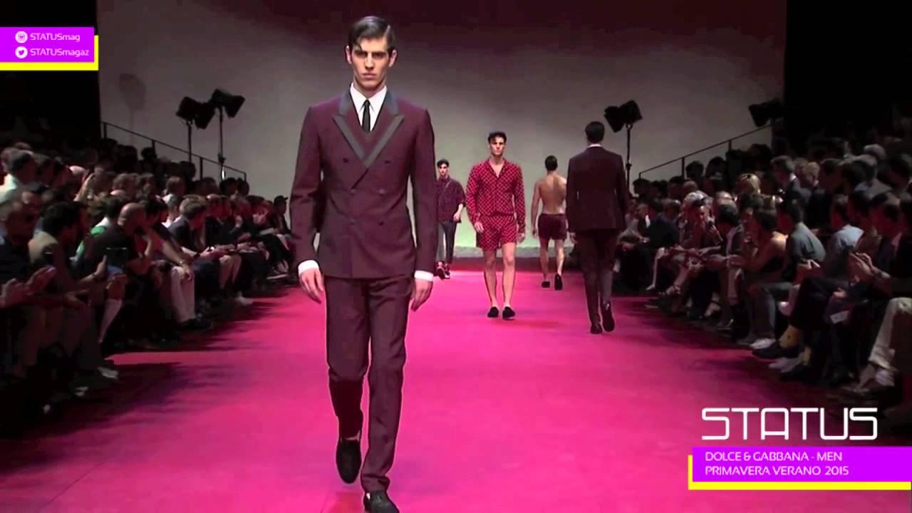 DOLCE & Gabbana Men Primavera Verano 2015 - YouTube